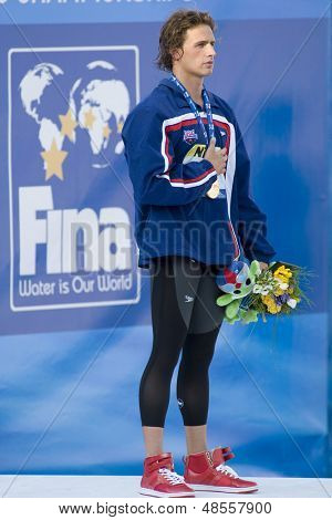 Jul 30 2009; Rome Italy; Eric Shanteau (USA) bronze medal winner in the mens 200m individual medley  at the 13th Fina World Aquatics Championships held in the The Foro Italico Swimming Complex.
