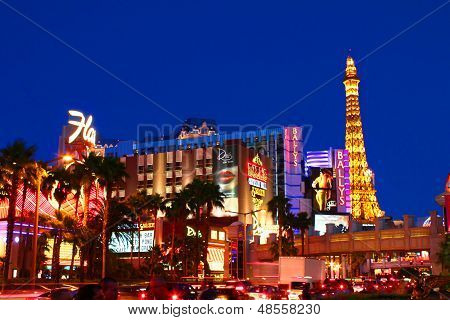 Las Vegas Strip Bright Lights