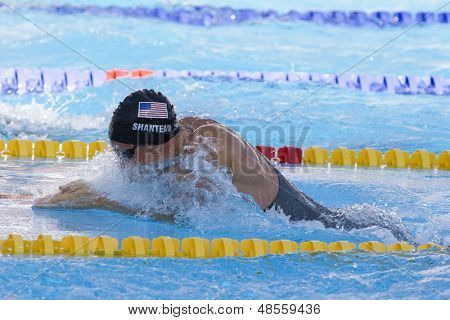 Jul 27 2009; Rome Italy; Eric Shanteau (USA) competing in the mens 100m breaststroke final at the 13th Fina World Aquatics Championships held in the The Foro Italico Swimming Complex.