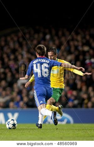 LONDON ENGLAND 23-11-2010.Chelsea's midfielder Josh McEachran in action during the UEFA Champions League group stage match between Chelsea FC and MSK Zilina