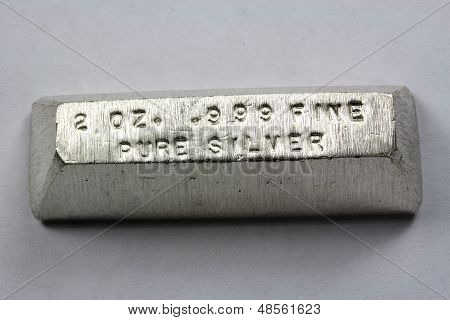 2 Troy Ounce Silver Bullion Bar