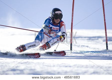 SOELDEN AUSTRIA OCT 25, Lara Gut SUI  competing in the womens giant slalom race at the Rettenbach Glacier Soelden Austria, the opening race of the 2008/09 Audi FIS Alpine Ski World Cup