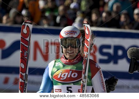 SOELDEN AUSTRIA OCT 26, Daniel Albrecht SUI the winner of the mens giant slalom race at the Rettenbach Glacier Soelden Austria, the opening race of the 2008/09 Audi FIS Alpine Ski World Cup