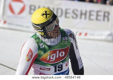 SOELDEN AUSTRIA OCT 26,  Herman Maier AUT competing in the mens giant slalom race at the Rettenbach Glacier Soelden Austria, the opening race of the 2008/09 Audi FIS Alpine Ski World Cup