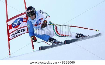 VAL GARDENA, ITALY 18 December 2009. Dominik Paris (ITA) competing in the Audi FIS Alpine Skiing World Cup Super-G race