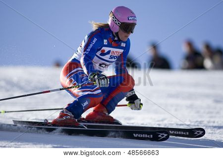 SOELDEN AUSTRIA OCT 25, Chemmy Alcott GBR  competing in the womens giant slalom race at the Rettenbach Glacier Soelden Austria, the opening race of the 2008/09 Audi FIS Alpine Ski World Cup
