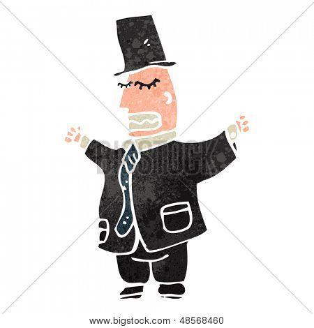 retro cartoon wealthy man