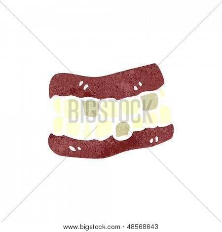 retro cartoon false teeth