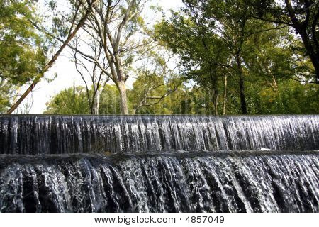 Small Waterfall In A Nature Reserve