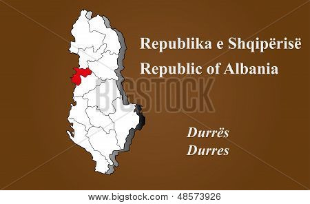 Albania - Durres Highlighted