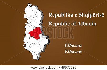 Albania - Elbasan Highlighted