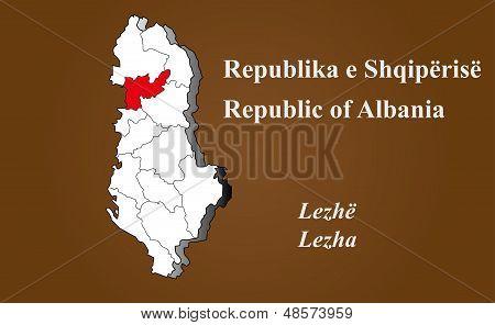 Albania - Lezha Highlighted