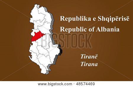 Albania - Tirana Highlighted