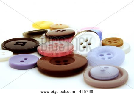 Collection Of Colorful Buttons