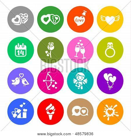 90_set Valentine's Day Buttons, Vector Signs Colour Round.jpg
