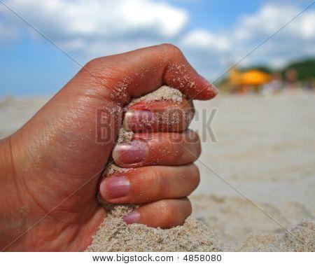 Fist On Sand