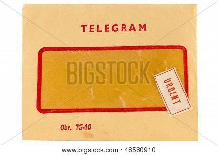 Old Telegram Envelope With Urgent Mark