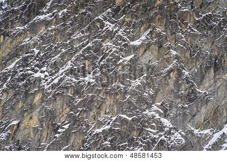 Detail Of Mountains In Winter