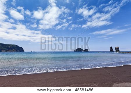 Beach and rocks of the same name at Mosteiros, Sao Miguel, Azores