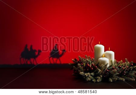 Three Wise Men And Candles