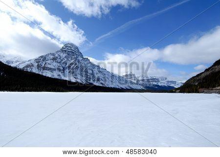Waterfowl Lake In Winter,canadian Rockies,canada