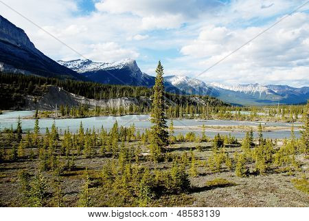 North Saskatchewan River,canadian Rockies,canada