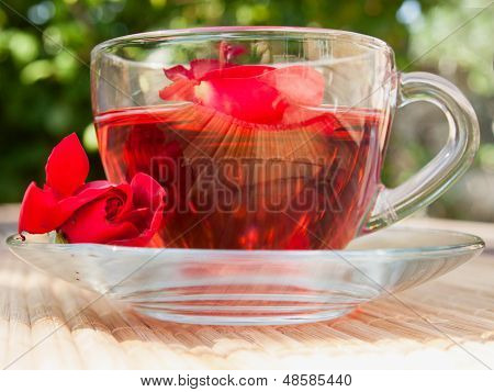 Natural Tea From Rose-petals