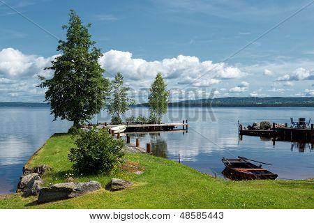 Summer morning at Lake Siljan, Sweden