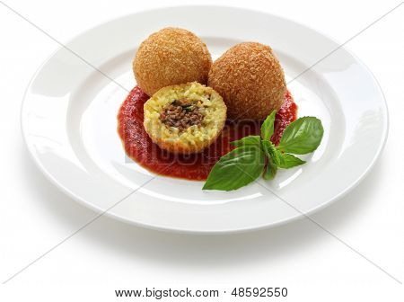 arancini, fried rice balls, italian cuisine