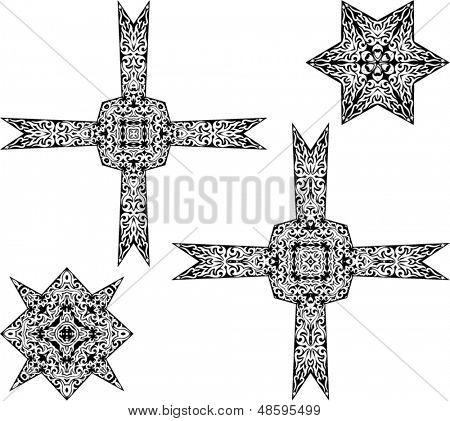 Tribal Tattoo Cross and Star