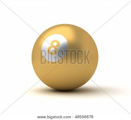 Golden Billiard Ball