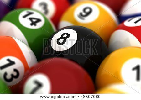 Billiard Ball Closeup