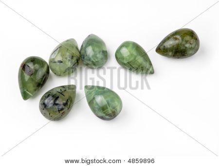 Green Garnet Teardrops