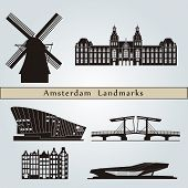 Amsterdam Landmarks And Monuments poster