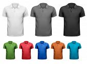 picture of apparel  - Black and white and color men t - JPG