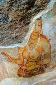 Ancient Wall Paintings Of Cloudy Maidens, Sri Lanka