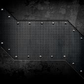 picture of alloy  - black metal background - JPG