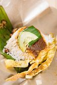 picture of nasi  - A pack of nasi lemak  - JPG
