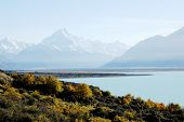 Mount Cook In Autumn,new Zealand