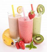 stock photo of three life  - three glasses of smoothies - JPG