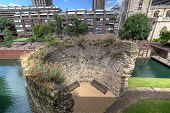 Barbican St Giles and old Wall of London