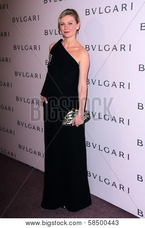 Kirsten Dunst at the Elizabeth Taylor Bvlgari Jewelry Collection Unveiling, Bvlgari Beverly Hills, CA 02-19-13