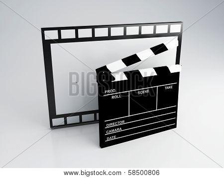 Clapper board, 3d illustration.