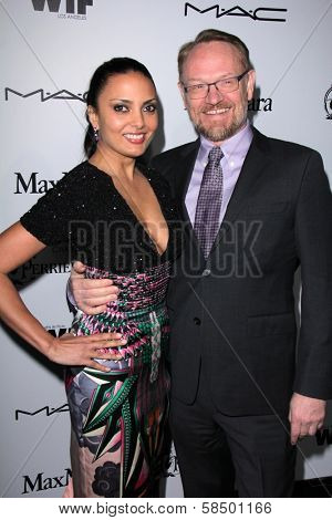 Jared Harris, Allegra Riggio at the Sixth Annual Women In Film Pre-Oscar Coctail Party, Fig & Olive, Los Angeles, CA 02-22-12