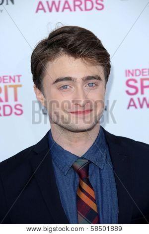 Daniel Radcliffe at the 2013 Film Independent Spirit Awards, Private Location, Santa Monica, CA 02-23-13
