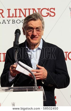 Robert De Niro at the Robert De Niro Hand and Foot Print Ceremony, Chinese Theater, Hollywood, CA 02-04-13