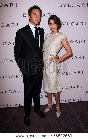 Prince Emannuele di Savoia, Princess Clotilde Courau at the Elizabeth Taylor Bvlgari Jewelry Collection Unveiling, Bvlgari Beverly Hills, CA 02-19-13