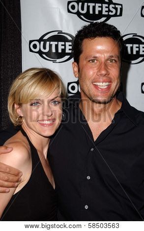 HOLLYWOOD - JULY 10: Elaine Hendrix and Jonathan Bray at the Premiere of