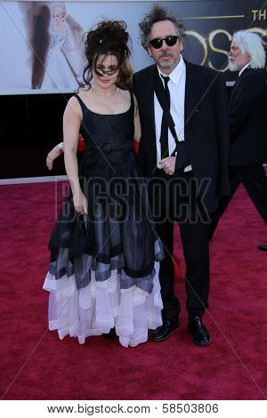 Helena Bonham Carter, Tim Burton at the 85th Annual Academy Awards Arrivals, Dolby Theater, Hollywood, CA 02-24-13