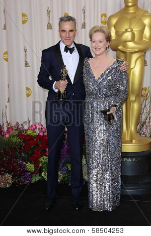 Daniel Day-Lewis and Meryl Streep at the 85th Annual Academy Awards Press Room, Dolby Theater, Hollywood, CA 02-24-13